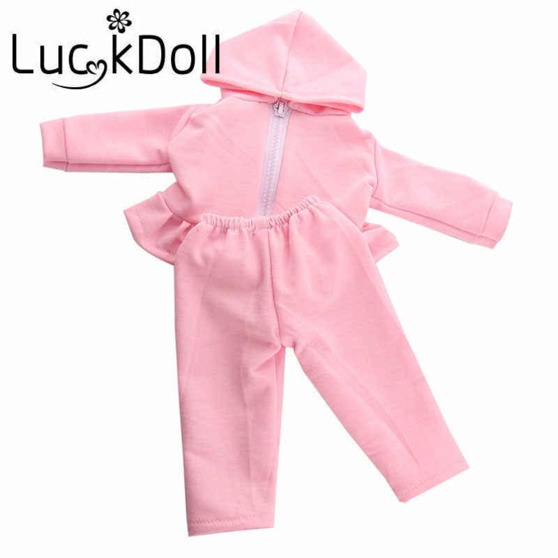 LUCKDOLL Soprts костюмы одежда подходит 18 дюймов Американский 43 см Детские аксессуары для кукол, игрушки для девочек, поколение, подарок на день рождения