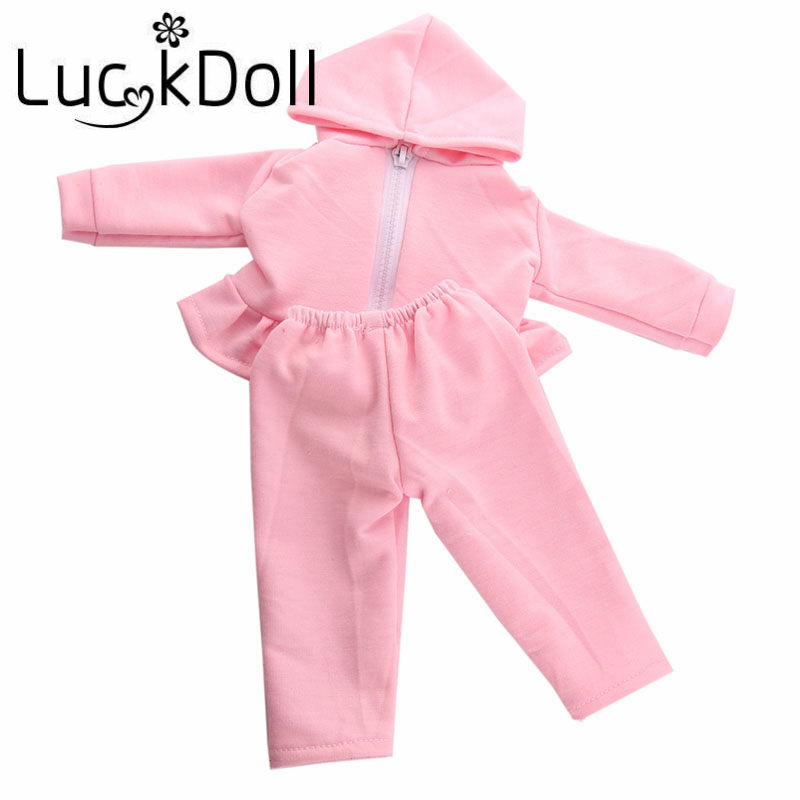 Luckdoll soprts suits baby born clothes fit for 43 cm Baby Born Doll or 18 inch American Girl Doll Accessories american girl doll clothes superman and spider man cosplay costume doll clothes for 18 inch dolls baby doll accessories d 3