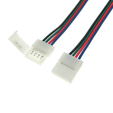 20X 4pin 10mm Connector Wire Double Connectors for RGB 5050 LED Strips Length 17cm 20pcs/lot