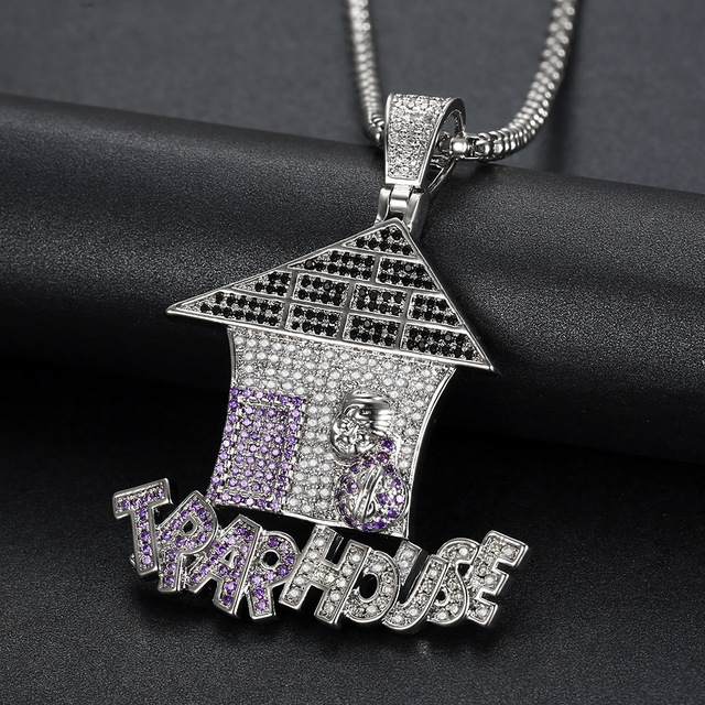 Men Hip hop Iced out Bling TRAR house pendant necklaces multicolor AAA Zircon Fashion pendants Hiphop necklace jewelry gifts