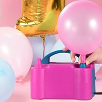 1pcs Portable Double Electric Balloon Air pump Inflator 110V Blower Party Pink