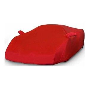 Bâche de voiture élastique tissu de voiture personnalisé intérieur pour Lada Priora anti-poussière Auto Surface protecteur