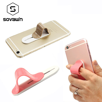 Sovawin Finger Ring Back Holder Hook Retractable Mount Mobile Phone Finger Grip Lazy Buckle Universal Paste Stand for Phone パンプス レディース 太ヒール