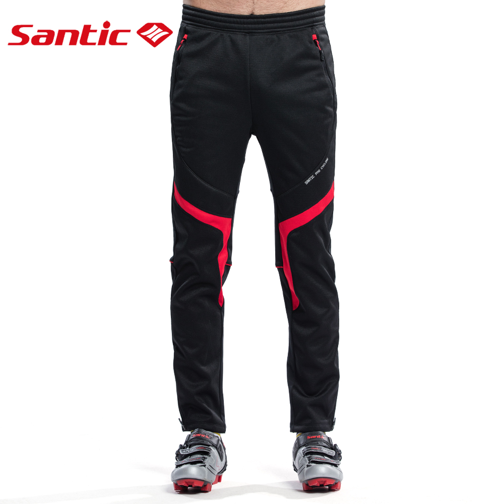 SANTIC Winter Hiking Pants Men Thermal Windproof Long Pants Mount Cycling Runing Camping Warm Clothing Trousers Sportswear Pants airgracias winter thermal fleece stretch blue gray denim jeans elasticity jean thicken warm trousers pants large size 34 36