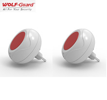 2 x Wolf-Guard Wireless Indoor Sound&Flash Alarm Siren for Home Alarm System EU Plug 220V 433MHZ/315MHZ