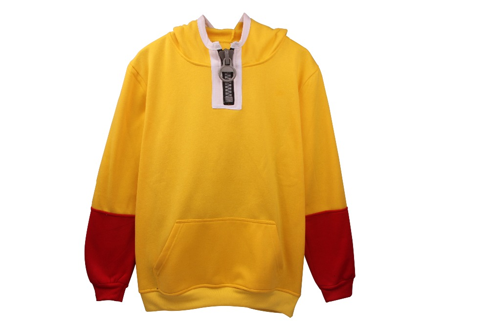 Unisex Winter Fashion Fresh One Punch ManYellow Stitching Sweatshirt Thick Sweater