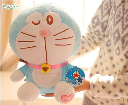 38cm Anime Cartoon Cute Doraemon plush toys Japanese anime Doraemon Cat Plush Toys For Childrens Gift ,3 styles