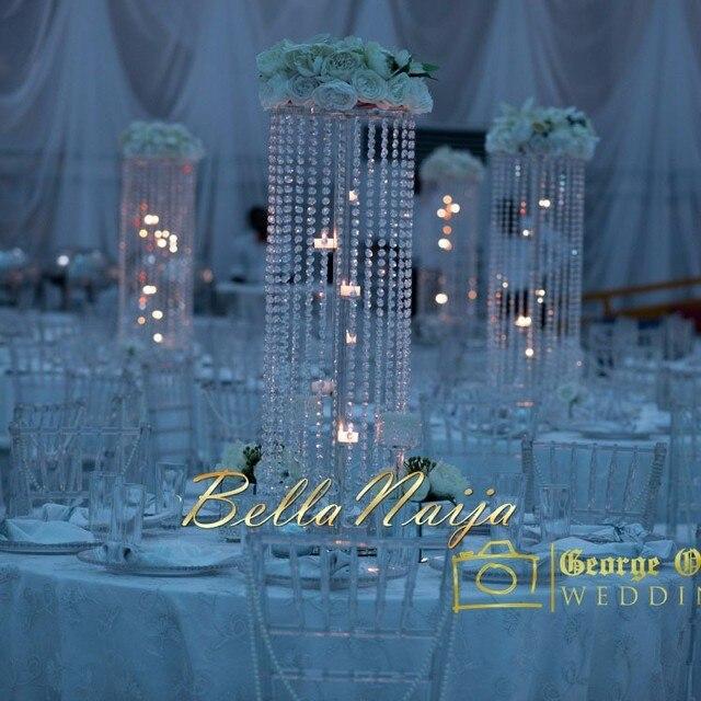 100cm(H) Silver Wedding flower Stand Wedding centerpiece Table ...