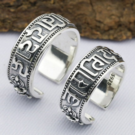 Forever love vintage 925 sterling silver couple rings for lovers classic silver 925 jewellery rings fashion 2015