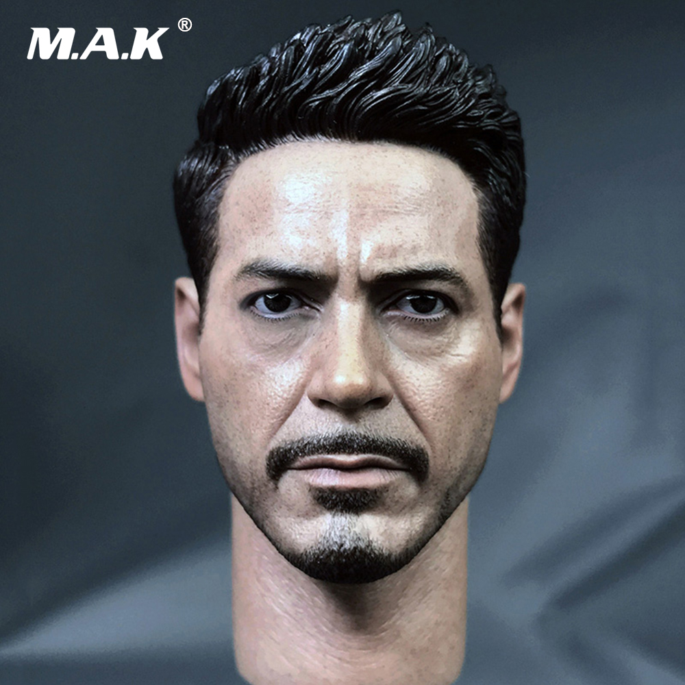 1/6 Iron Man Captain American 3 Tony Head Sculpts Normal and Damage Versions With Neck for 12 Inches Male Bodies Action Fi signed tfboys jackson autographed photo 6 inches freeshipping 6 versions 082017 b