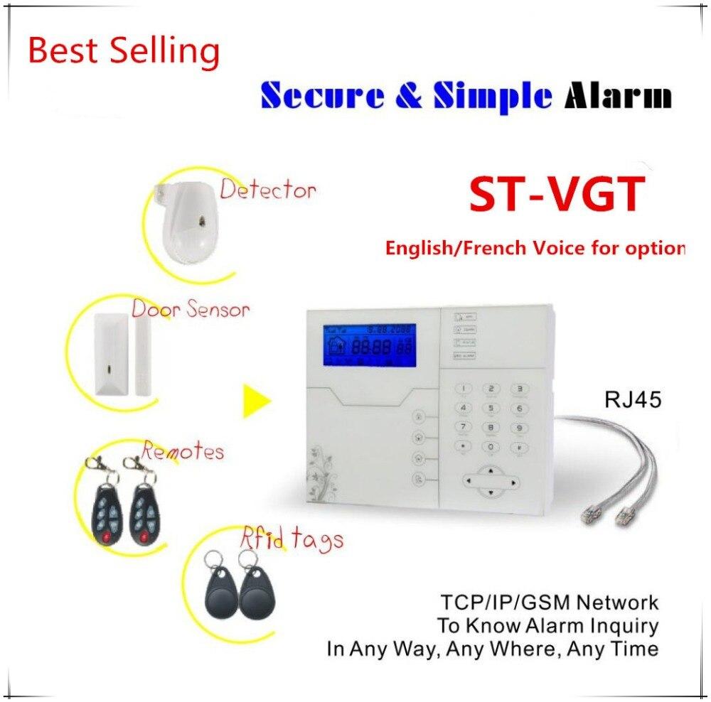 Meilleur Vente Internet TCP IP GSM Système D'alarme avec 8 filaire zone et 32 Zone Sans Fil Antivol Système D'alarme