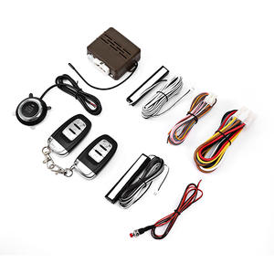 Push-Button Car-Alarm-System Auto Alarma 12V One-Way Remote-Control No-Key-Entry Start-Up