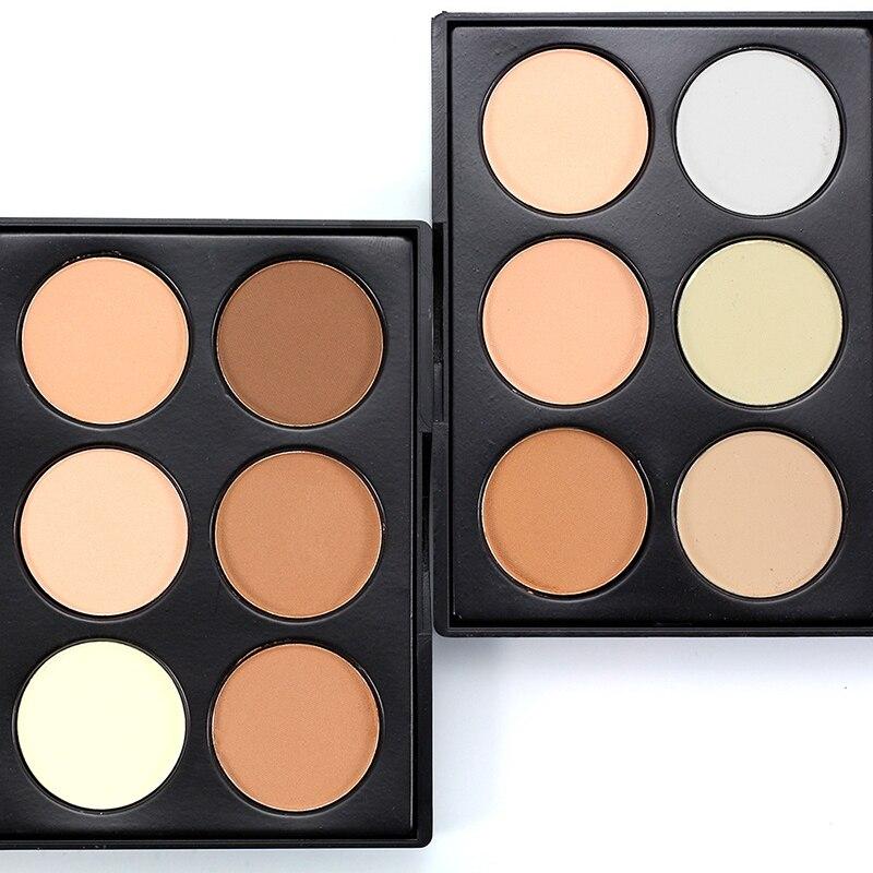 Professional Makeup Concealer Powder Palette 6color Contour Face Make Up Corretivo Pores Maquiagem Highlighter Facial Foundation