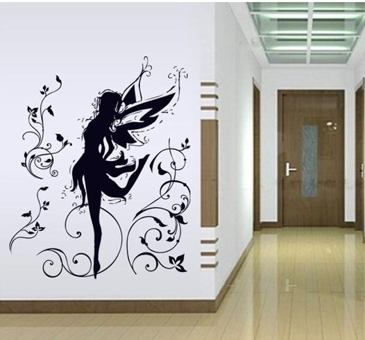 80cm Height Black Dance Spirit Silhouette Wall Sticker