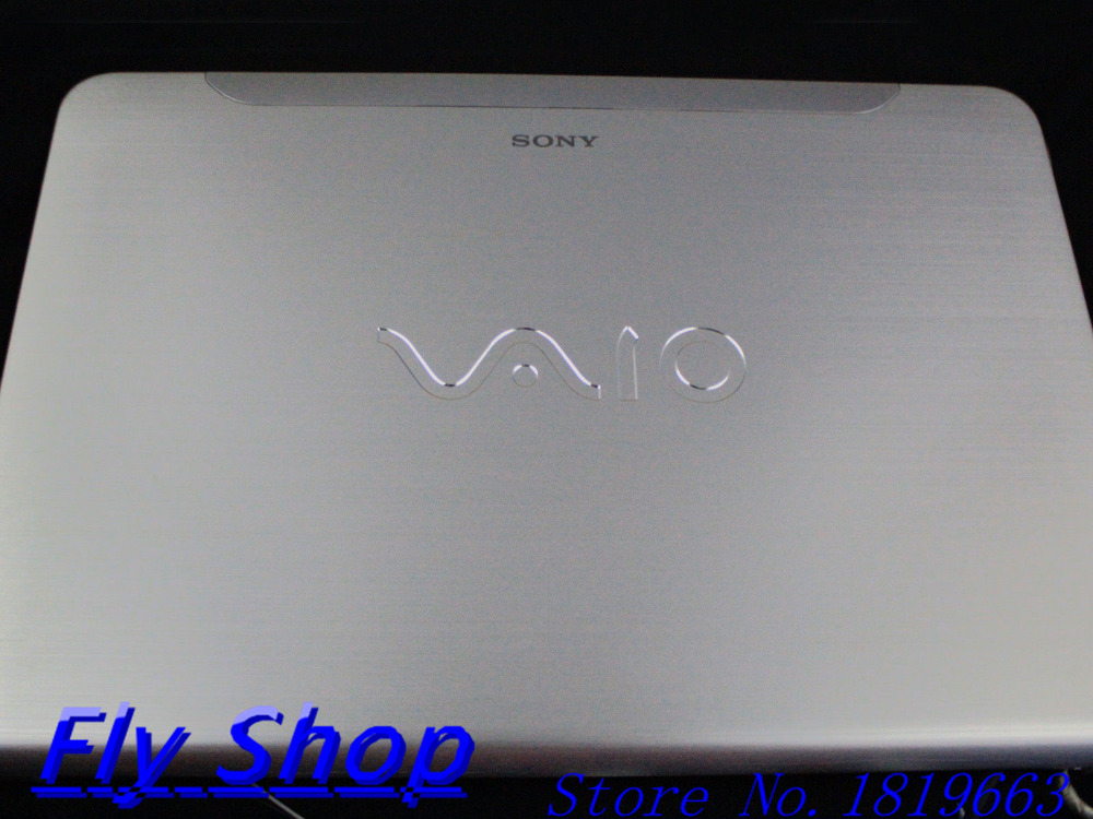 New/Original For Sony VAIO SVE14 Touchscreen LCD Back Cover Front Bezel 009-100A-1869 Silver  цены онлайн