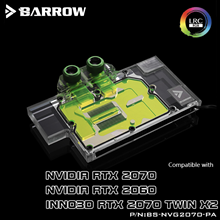 Water-Cooling-Blocks Graphics-Card Barrow NVIDIA Founder-Edition INNO3D RTX2070 Full-Cover