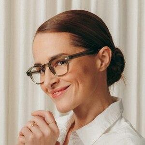 Image 2 - جوني ديب نظارات إطار النظارات البصرية الرجال النساء الكمبيوتر شفافة تصميم العلامة التجارية النظارات خلات خمر Q313 2 الموضة