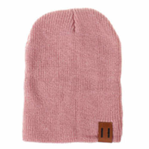 54df2459007 ... 2018 Mom Dad Newborn Toddle Kids Baby Boy Girl Winter Warm Knit Beanie  Hat Caps 2pcs ...