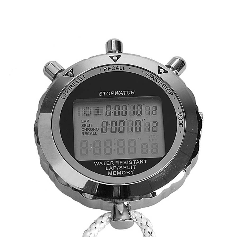 Messung Und Analyse Instrumente Professionelle Timer Digitale Stoppuhr Quarz Countup Timer Uhr Timing Exquisite Metall Timing Instrumente Für Sportler Gym Taille Und Sehnen StäRken