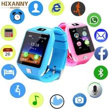 Купить с кэшбэком HIXANNY Smart Watch Waterproof Support SIM TF Cards For Android IOS Phone Children Women Camera Bluetooth Watch Russia PK GT08