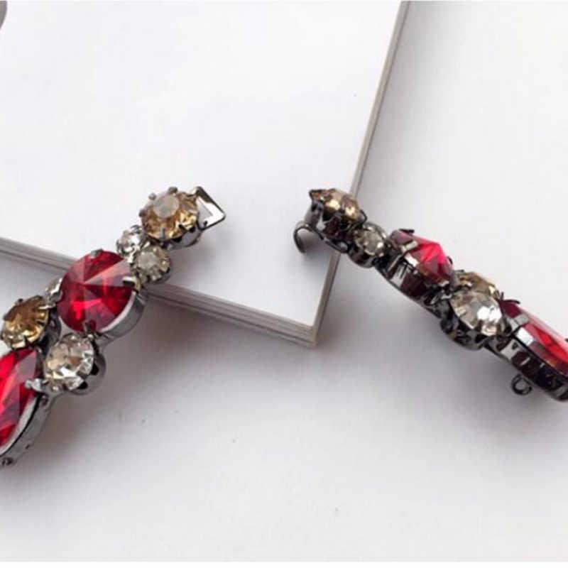 Красная Пряжка декоративные кнопки металла горный хрусталь норки пальто кардиган на пуговицах, свитер шаль кнопка