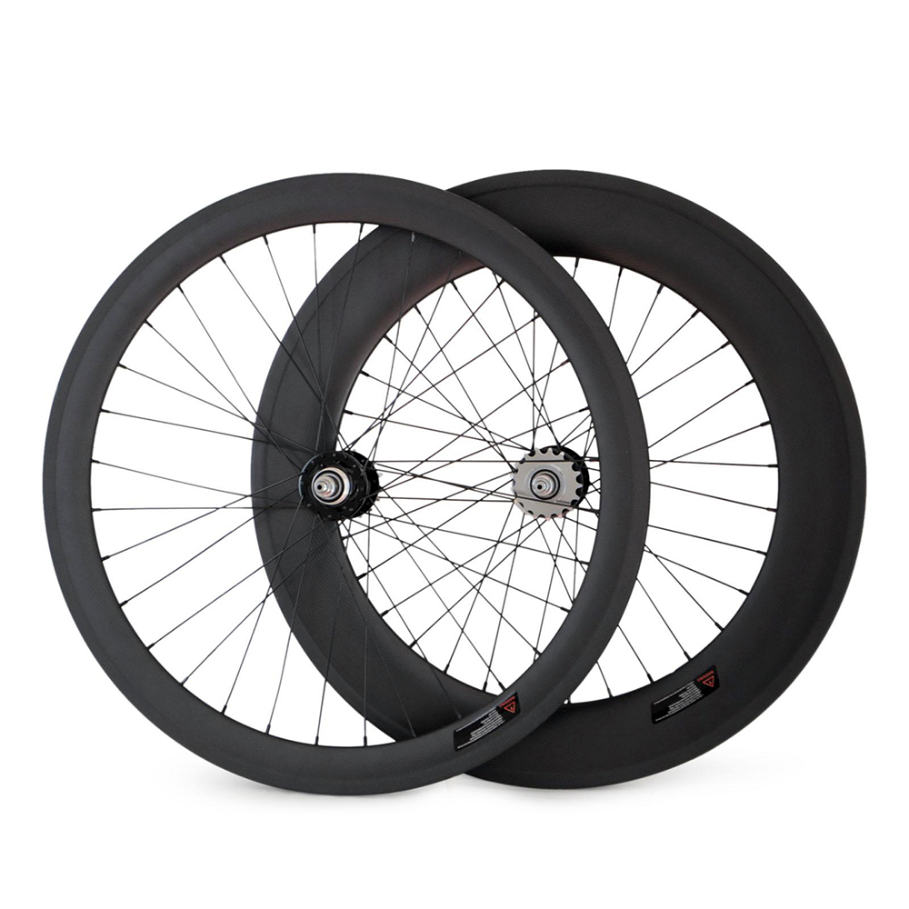 7-TIGER  carbon track fixie wheels 88mm and 60 mm fixed gear bike bicycle wheel single speed bike  Wheelset new 7075 48t single speed fixed gear fixie bike crankset cycling road track bicycle crank set chain wheel