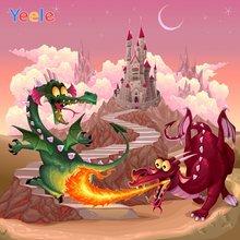 Yeele фотосессия замок динозавр комната живопись Декор фотографии