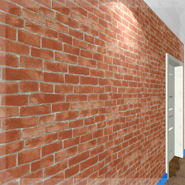 3598 Chinese Style Modern Vinyl Red Brick Wall Wallpaper Roll 3d Pvc Wall Coverings Vintage Wall Paper Decoration W526 Kitchen En Fondos De