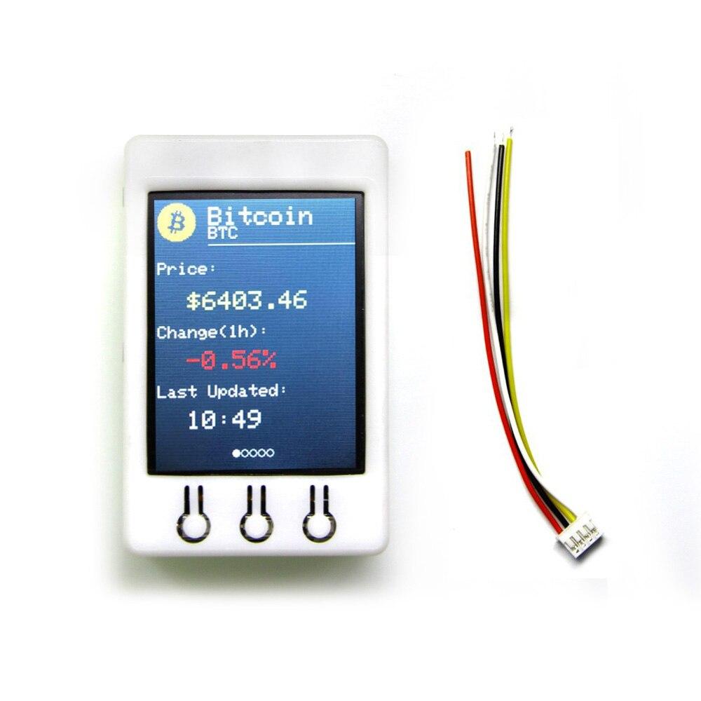 TTGO T-Watcher BTC Ticker ESP32 para Arduino precio Bitcoin Ticker programa 4 MB SPI Flash 4 MB Psram 2,2 pulgadas 320*240 TFT