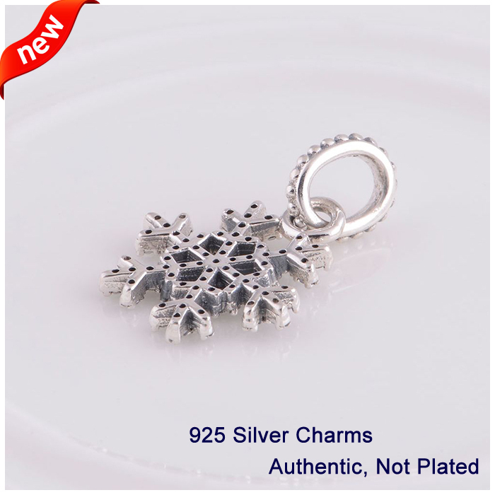 L341 New Arrival Authentic 925 Sterling Silver Beads snowflake - Fine Jewelry - Photo 2