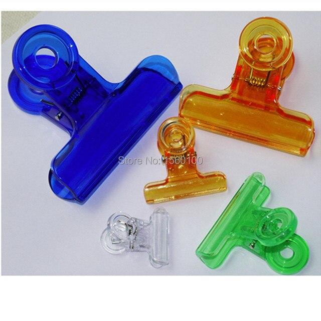 Бесплатная доставка (24 шт./упак.) 31 мм Пластиковые скрепки Многоцветный связующего клип канцелярских зажим школа питания