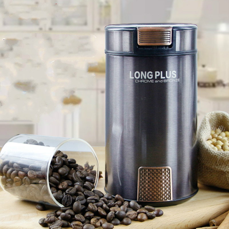 LONG PLUS Multi Electric Grinder 200W Stainless Steel Automatic Coffee Grinder Coffee Machine Dry GrindingLONG PLUS Multi Electric Grinder 200W Stainless Steel Automatic Coffee Grinder Coffee Machine Dry Grinding