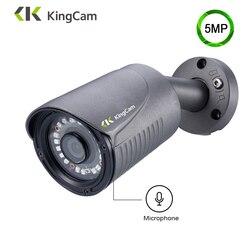 KingCam H.265 5MP IP Della Macchina Fotografica di Alluminio del Metallo Impermeabile Della Pallottola Esterna Telecamera ip di POE Telecamera di Sicurezza CCTV Fotocamera ONVIF IP C