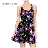 Jocelyn Katrina Dresses Sleeveless Pleated Sports A Line Tennis Dress Vintage Dress Women Summer Mini Dress