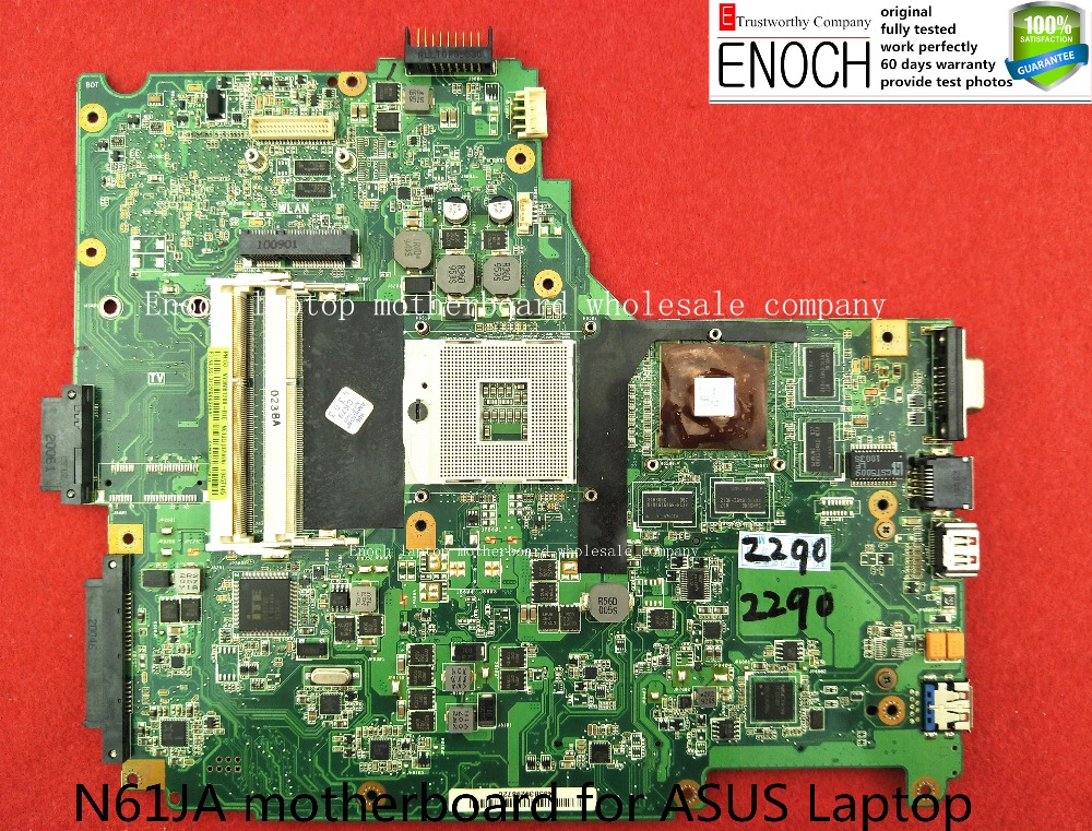 N61JA motherboard for ASUS Laptop with graphics 60-NY9MB1200-B1E N61JA MAIN BOARD store No.027