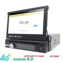 "7 ""Universal 1Din android6.0Car Audio DVD-Player + Radio + GPS-Navigation + Autoradio + Stereo + Bluetooth + PC + DVD Automotivo + SD USB RDS Aux"