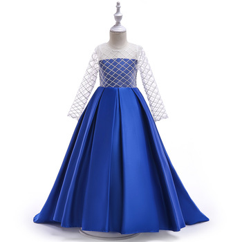O Neck Beaded Birthday First Communion Dresses Petals Long Sleeves Ball Gown Flower Girl Dresses for Weddings Evening Party 2017 new flower girl dresses long sleeves o neck back sheer tulle ball gown kids prom evening party communion dresses vestidos