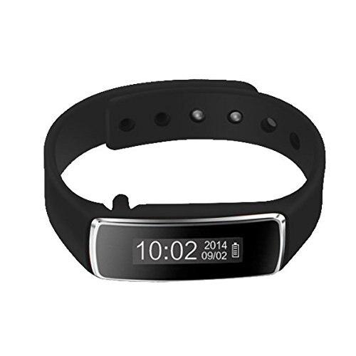 V5 Bluetooth Pedometer Step Walking Distance Calorie Sport Tracker (Black)
