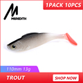 MEREDITH Trout JX61-11 3D Fish Lifelike Lures 10PCS/lot 13g/110mm Hot Model Fishing Soft Lures Free Shipping