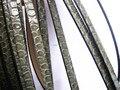 10mm cuerda de cuero plana 1 metros 10mm * 2mm Plana de LA PU Cordón de Cuero de Grano de la Serpiente para hecho a mano Collar de la pulsera y otros