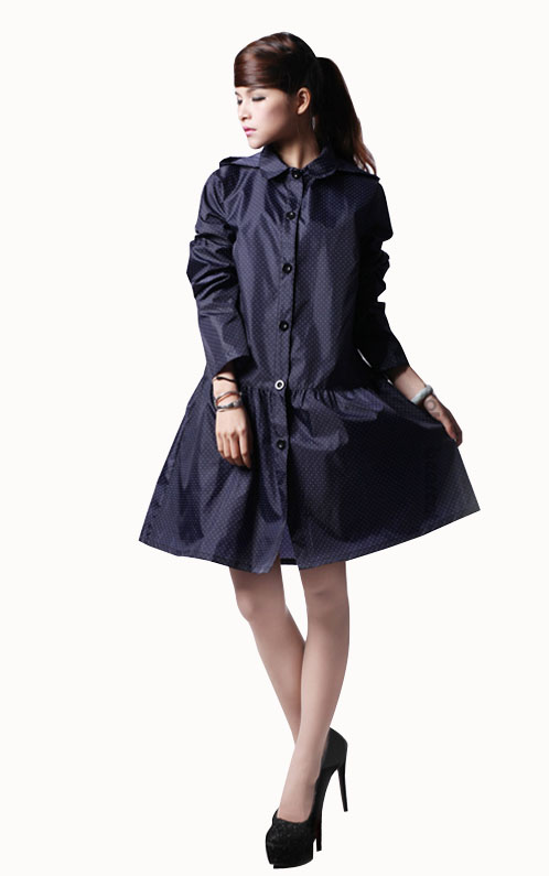 Long Raincoat EVA Thick Momen girl Rainwear Waterproof Hiking Tour Hooded Rain Coat