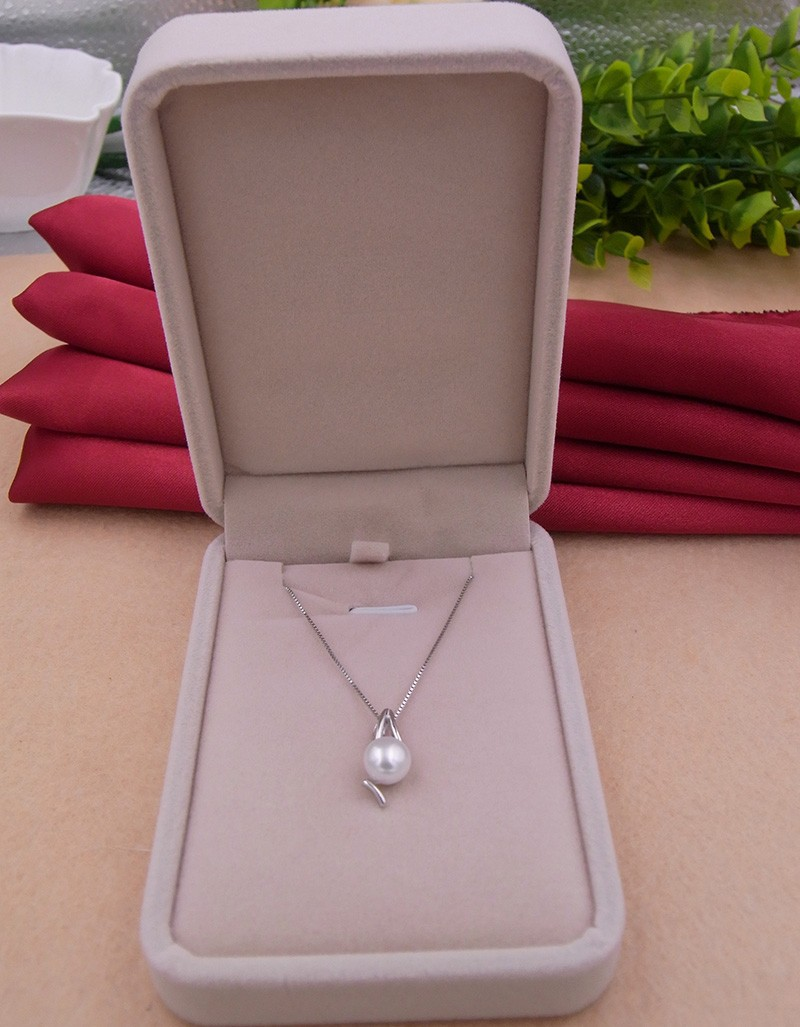 brand store special offer give free chains promotion hand polished 925 silver set fresh water pearl classic necklace pendants