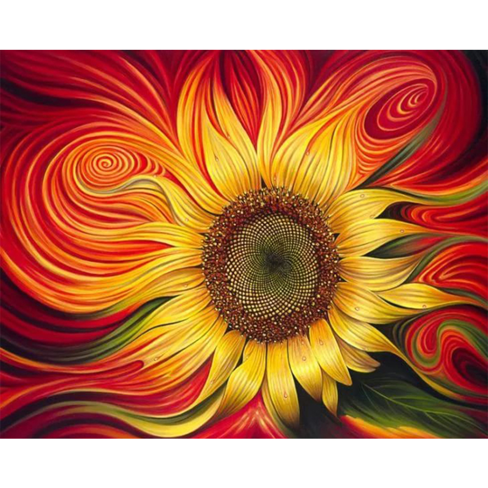 5D DIY Diamond Embroidery Abstract Sunflower Cross Stitch Crystal Inlay Home Decoration Painting Z114