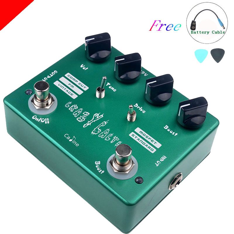 Caline CP-20 Crazy Cacti Overdrive Guitar Effect Pedal True Bypass Design CP20 Effects Pedals Aluminum Alloy Housing caline cp 29 guitar effect pedal mixing boost white heat true bypass design