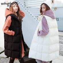 Solid Color Sleeveless Vest Winter Coat Women Cotton Long Paragraph Loose Cotton Slim Velvet Women Vest Jacket Waistcoat Female