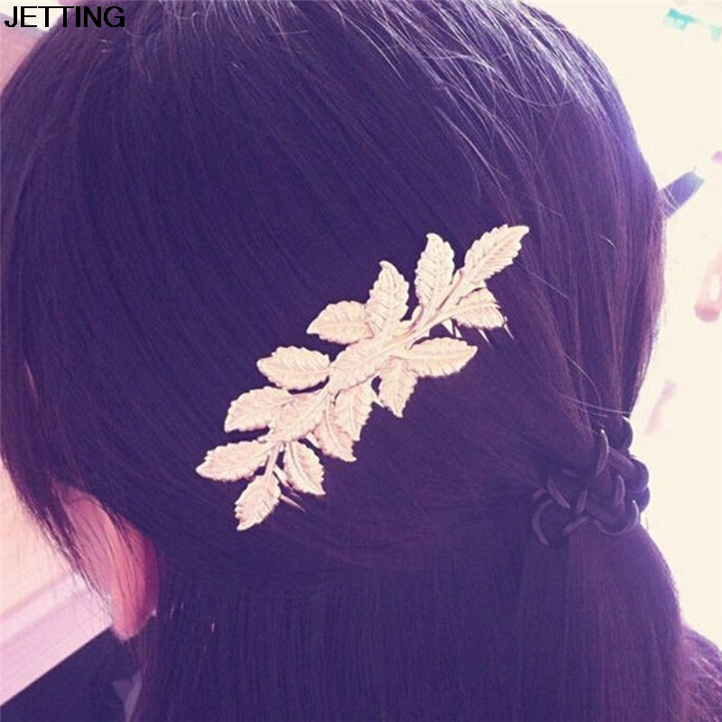 Hot Selling Designer Gold Leaf Bridal Hair Combs Plastic Quality Accessories For Women Girls Wedding Bijoux Hair Jewelry