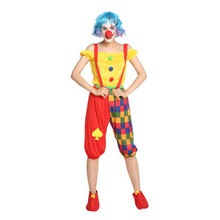 Adult Women Teens Funny Bib Lantern Pants Circus Clown Costumes Halloween Purim Carnival Masquerade Mardi Gras Party Outfit