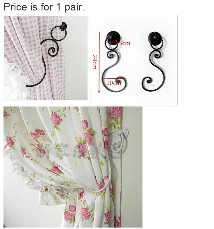 2015 New hot free shipping European style curtain wall hook curtain Valance mosquito net accessories wrought iron