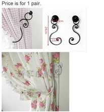 New hot free shipping European style curtain wall hook curtain Valance mosquito net accessories wrought iron