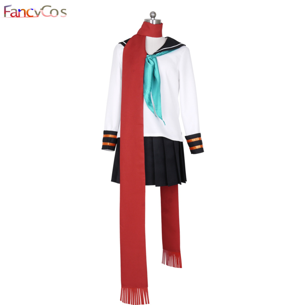 Anime Vocaloid 2 cosplay Costume Hatsune Miku school uniform Sailor High Quality Custom Made Fullset